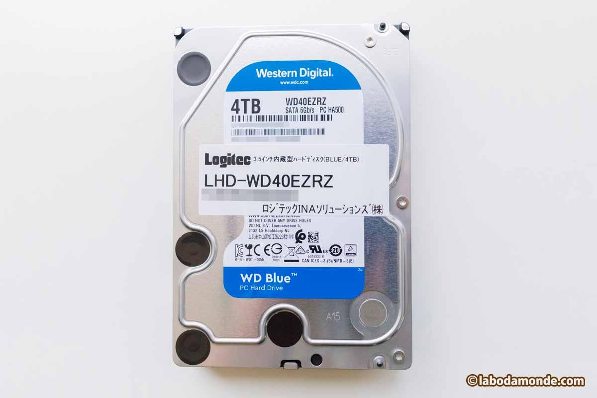 ハードディスク WD Blue WD40EZRZ